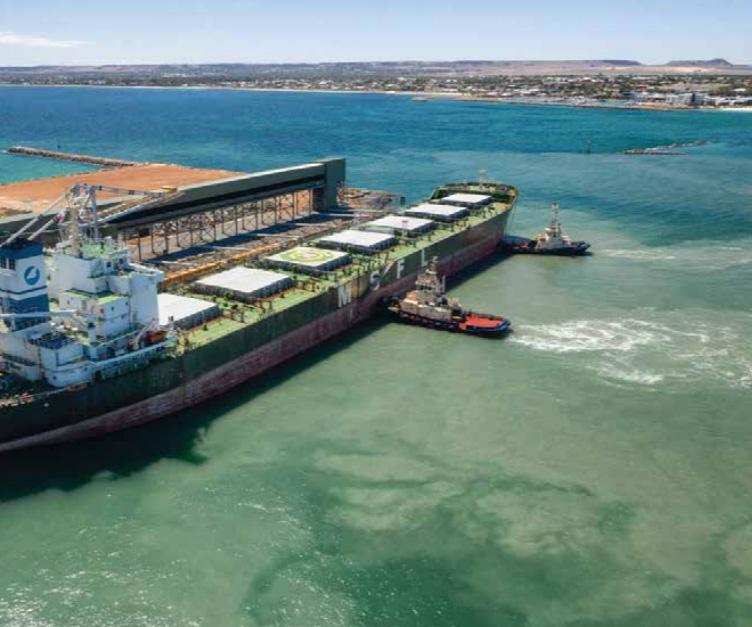 Tug boats moving large ship into dock